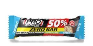 PROMUSCLE ZERO BAR 50% BARRETTA IPERPROTEICA AL COCCO 60 G