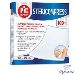 GARZA COMPRESSA IDROFILA PIC STERICOMPRESS 10X10 CM 4 BUSTE25 P