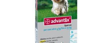 ADVANTIX SPOT ON soluz 4 pipette 1 ml 100 mg  500 mg cani da 4