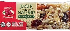 TASTE OF NATURE BARRETTA AI CRANBERRIES BIO VEGAN 40 G