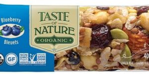 TASTE OF NATURE BARRETTA AI MIRTILLI BIO VEGAN AD ALTO CONTENUT