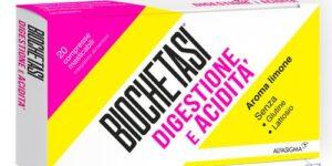 BIOCHETASI DIGESTIONE E ACIDITA' 20 COMPRESSE MASTICABILI AROMA