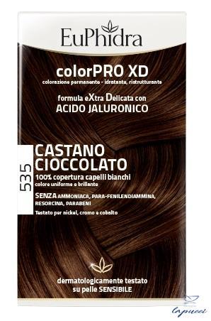 EUPHIDRA COLORPRO XD 535 CASTANO CIOCCOLATO GEL COLORANTE CAPEL