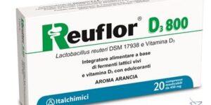 REUFLOR D3 800 20 COMPRESSE MASTICABILI AROMA ARANCIA