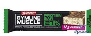 GYMLINE MUSCLE PROTEIN BARRETTA 27% ARACHIDI E CARAMELLO 45G