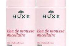 NUXE DUO EAU DE MOUSSE MICELLAIRE AUX PETALES DE ROSE 2 X 150 ML