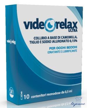COLLIRIO IDRATANTE E LUBRIFICANTE VIDEORELAX ULTRA MONODOSE0,5