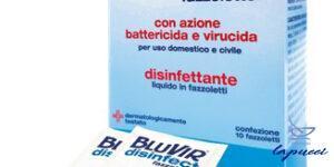 BLUVIR SALVIETTA VIRUCIDA BATTERICIDA 10 PEZZI 3 ML