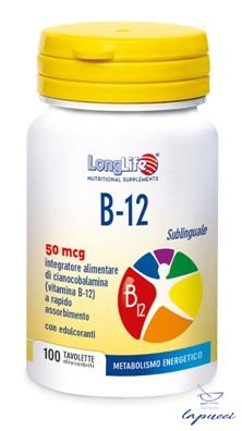 LONGLIFE B12 50MCG SUBLINGUALE 100 TAVOLETTE