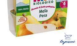HIPP BIO FRUTTA GRATTUGGIATA MELA PERA 4X100 G