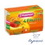 PLASMON OMOGENEIZZATO 4 FRUTTI 6 X 104 G