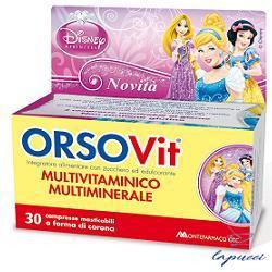 ORSOVIT MULTIVITAMINICO DISNEY PRINCESS 30 COMPRESSE