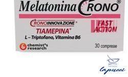 MELATONINA CRONO 1MG TIAMEPINA 30 COMPRESSE