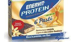 ENERVIT PROTEINE 6 PASTI 6 BARRETTE AL GUSTO VANIGLIA RICOPERTE