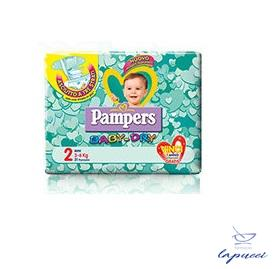 PANNOLINI PER BAMBINI PAMPERS BABY DRY DOWNCOUNT NO FLASH MINI