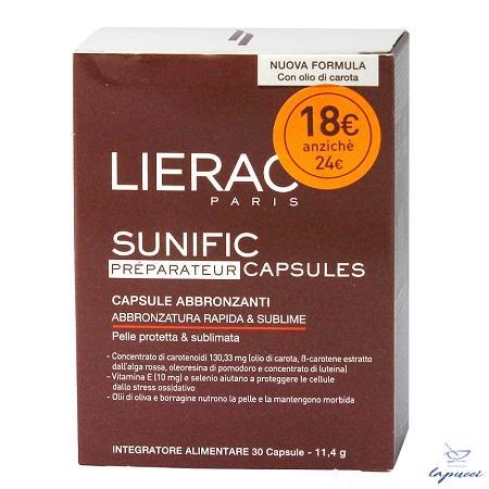 LIERAC SUNIFIC PREPARATEUR BLISTER 30 CAPSULE 12 G