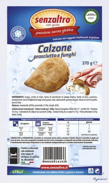 SENZALTRO CALZONE PROSCIUTTO E FUNGHI 370 G