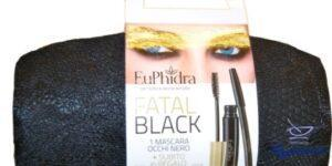 EUPHIDRA FATAL BLACK POCHETTE 1 MASCARA  MATITA KAJAL