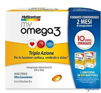MULTICENTRUM OMEGA3 DUOPACK 2X60 MINI PERLE