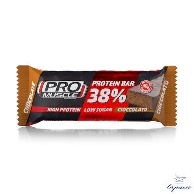 PROMUSCLE PROTEIN BAR 38% BARRETTA IPERPROTEICA AL CIOCCOLATO 8