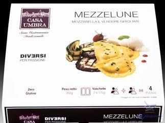 CASA UMBRA MEZZELUNE MOZZARELLA E VERDURE GRIGLIATE 350 G