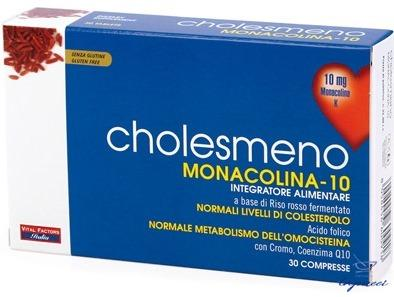 CHOLESMENO MONACOLINA 10 30 COMPRESSE 30 G