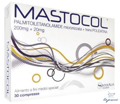 MASTOCOL 200MG 20MG 30 COMPRESSE