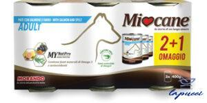 MIOCANE PATE' TRIS ADULT SALMONE/FARRO 3 X 400 G