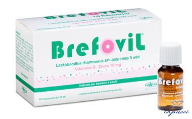 BREFOVIL 10 FLACONCINI MONODOSE DA 10 ML GUSTO LAMPONE