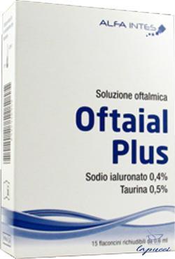 SOLUZIONE OFTALMICA OFTAIAL PLUS ACIDO IALURONICO 0,4% E TAURIN