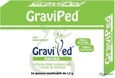 GRAVIPED NAUSEA 24 CHEWING GUM 1,2 G