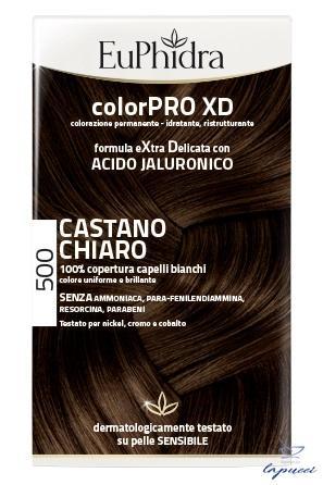 EUPHIDRA COLORPRO XD 500 CAST CHIARO GEL COLORANTE CAPELLI IN F