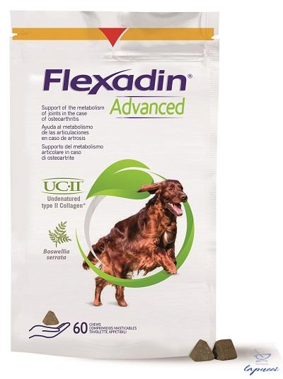FLEXADIN ADVANCED 60 TAVOLETTE APPETIBILI MASTICABILI PER CANI
