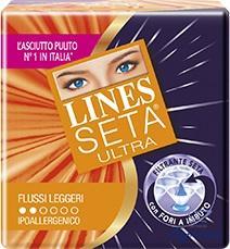 LINES SETA ULTRA ASSORBENTI PER FLUSSI LEGGERI 14 PEZZI