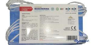 MASCHERINA CHIRURGICA GOLDMASK TIPO II 5 PEZZI