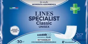 PANNOLONE LINES SPECIALIST CLASSIC RETTANGOLARE CON BARRIERA30