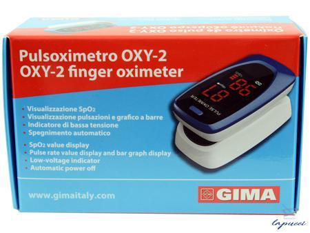 PULSOXIMETRO DA DITO OXY-2 SCHERMO LED 60X30,5X32,5MM 1 PEZZO