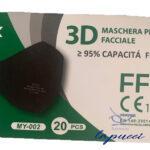 MASCHERINA FFP2 NERA 1 PEZZO