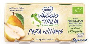 MELLIN VIAGGIO ITALIA BIO OMOGENEIZZATO PERA WILLIAMS 2 X 10G