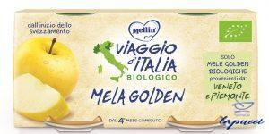 MELLIN VIAGGIO ITALIA BIO OMOGENEIZZATO MELA GOLDEN 2 X 100G